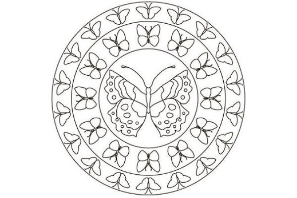 Mandalas con mariposas