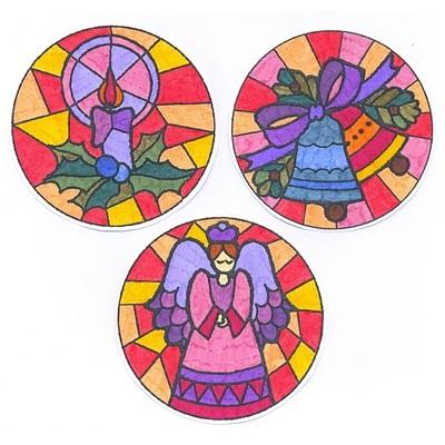 Mandalas de Navidad coloreadas
