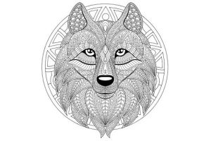 Mandalas de lobos