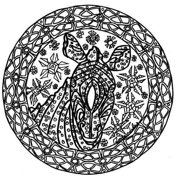 cebra mandala