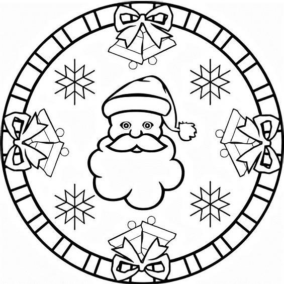 mandala de navidad facil