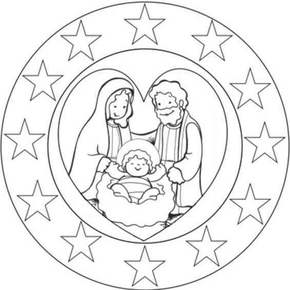 mandalas de navidad faciles para colorear