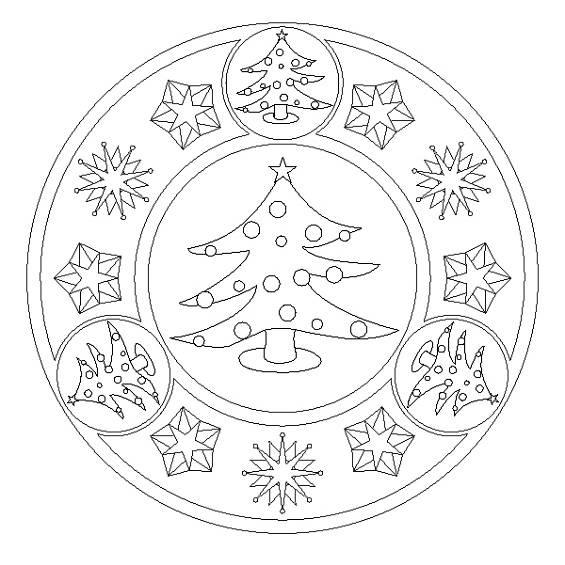 mandalas de navidad para colorear
