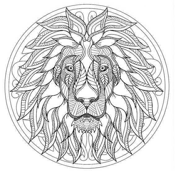 un leon mandala dificil