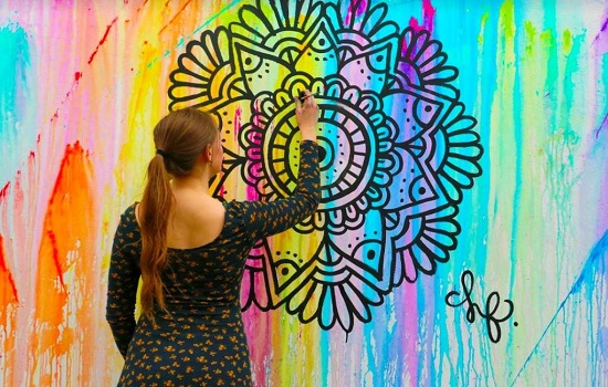 Mandalas en la pared