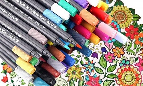 Para colorear tus mandalas necesitarás una gran variedad de rotuladores, pinturas, bolis y lápices de colores.
