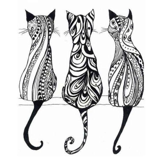 gatitos mandalas para colorear