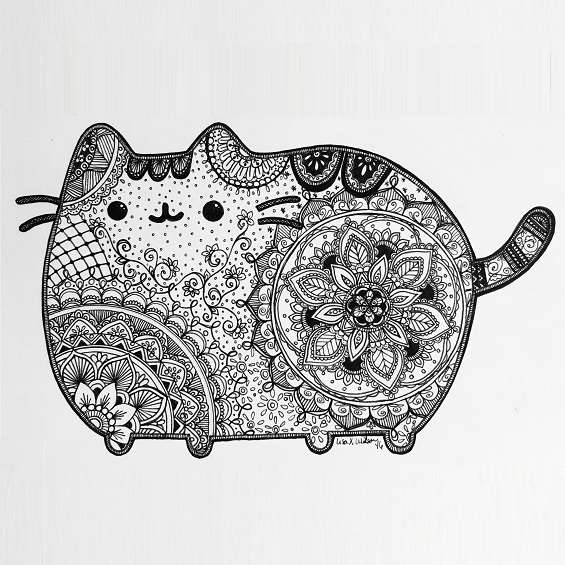 gato mandala gordito