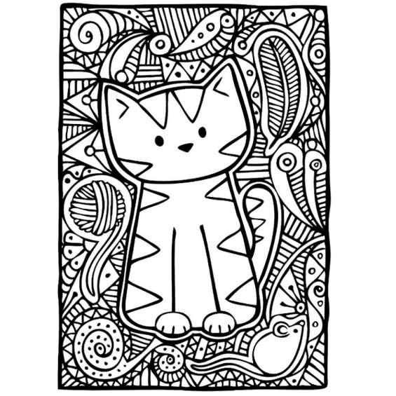 gatos mandalas para imprimir y colorear