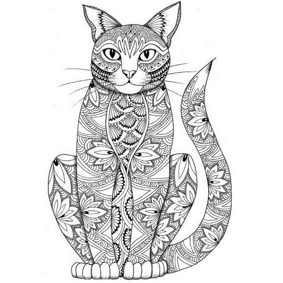 mandala de un gatito siames