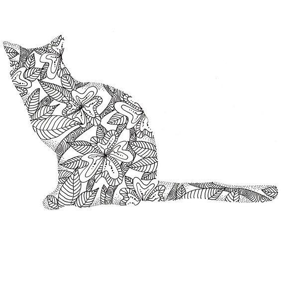 mandala de un gatito