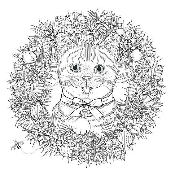 mandala de un gato para imprimir