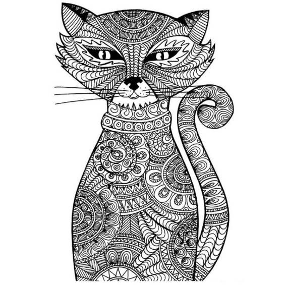 mandala de un gato persa