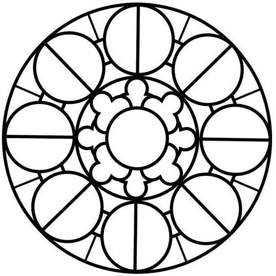 mandala para imprimir con circulos