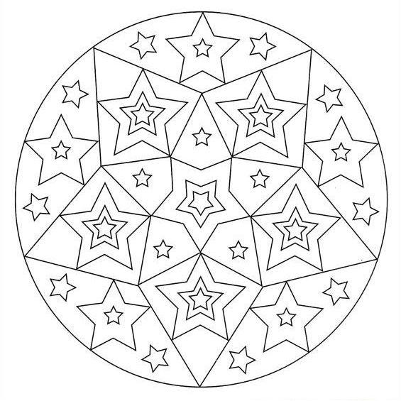 mandala para imprimir de estrellas