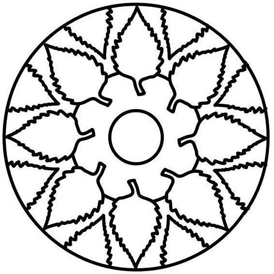 mandala para imprimir de hojas