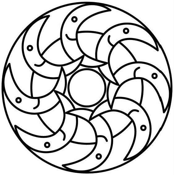 mandala para imprimir de lunas