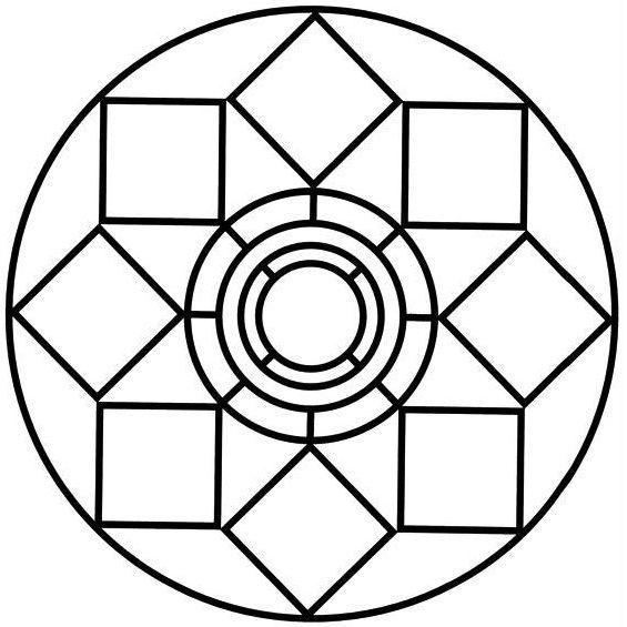 mandala para imprimir geometrico