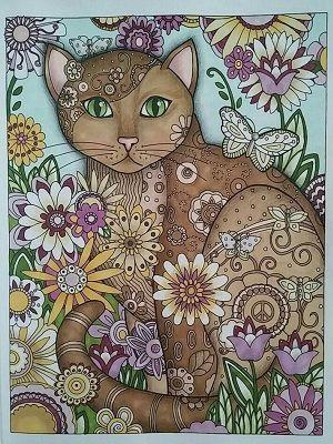 mandalas de gatos a color
