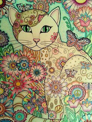 mandalas de gatos pintados