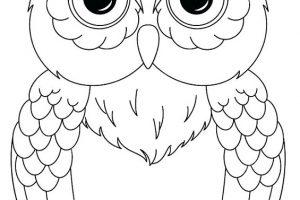 Dibujos de búhos fáciles