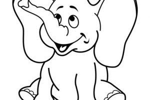 Dibujos de elefantes infantiles