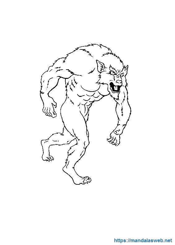 Dibujos de hombres lobo