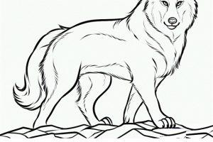 Dibujo de lobos