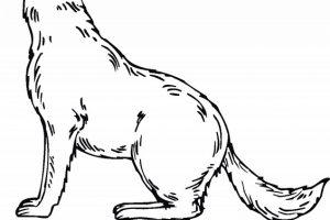 Dibujos de lobos faciles