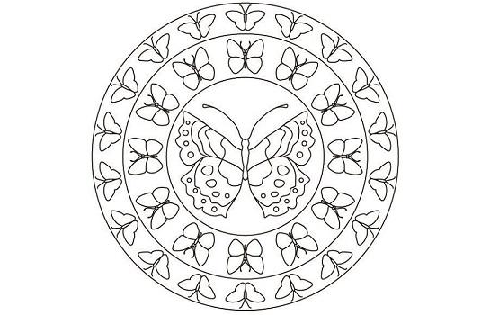 Dibujos y mandalas con mariposas