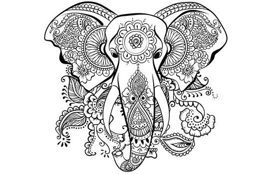 Dibujos y mandalas de elefantes