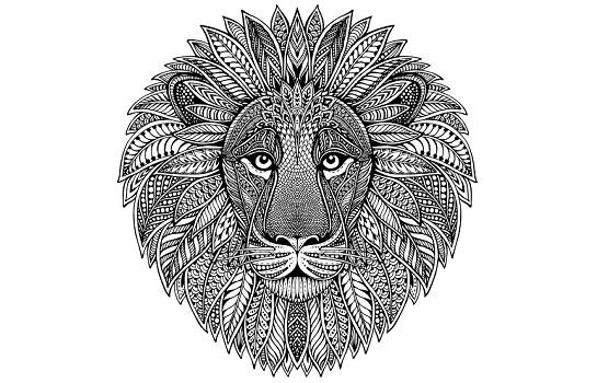 Dibujos y mandalas de leones