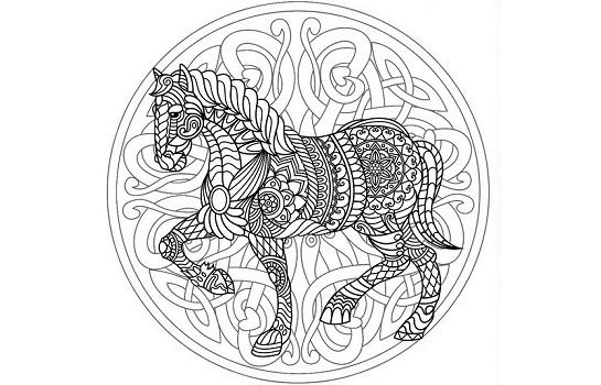 Mandalas y dibujos de caballos
