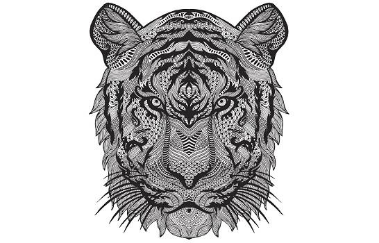Dibujos y mandalas de tigres