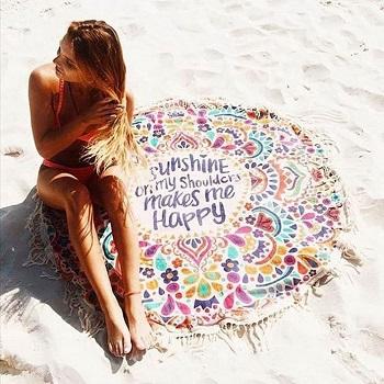 Toalla mandala de playa