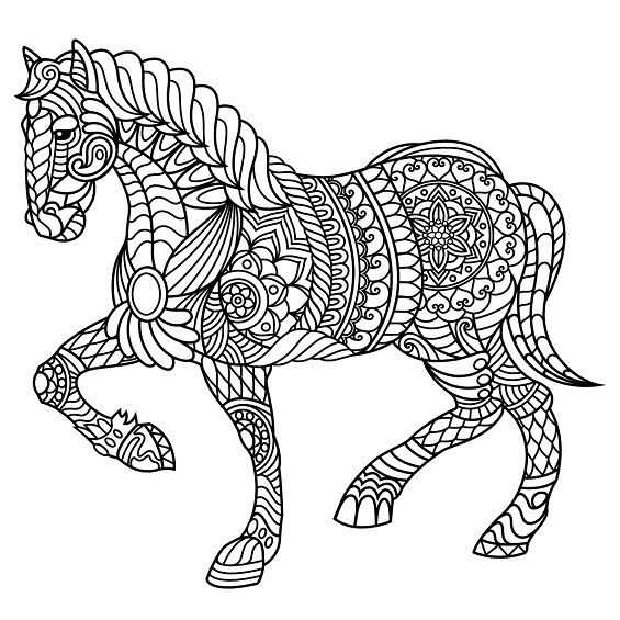caballo mandala para imprimir
