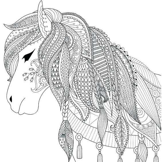 cabeza caballo mandala