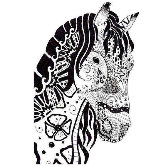 cabeza de caballo mandala