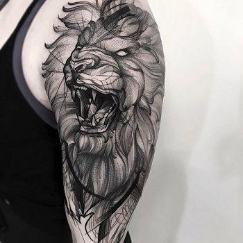 dibujo de un león para tatuaje