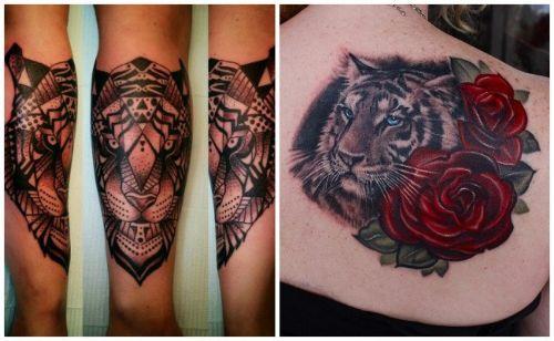 dibujo de un tigre para tatuar