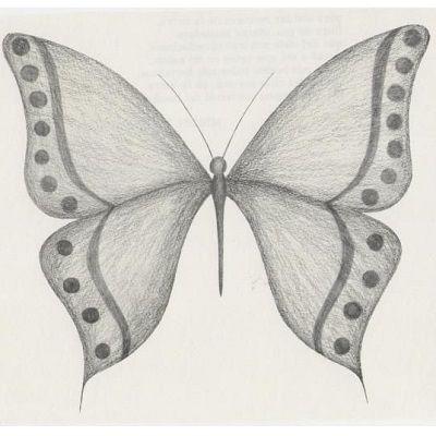 dibujo de una mariposa a lapiz