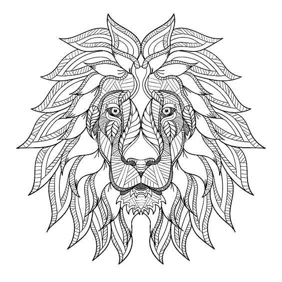 leon mandala para imprimir