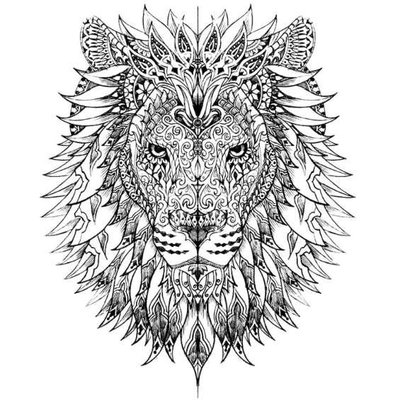 leon mandala para pintar