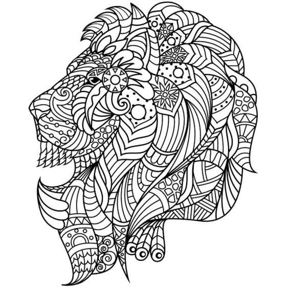 leones mandalas para colorear