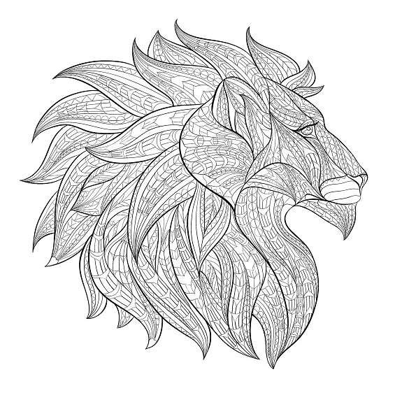 leones mandalas para imprimir