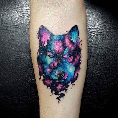 lobo mandala tatuaje