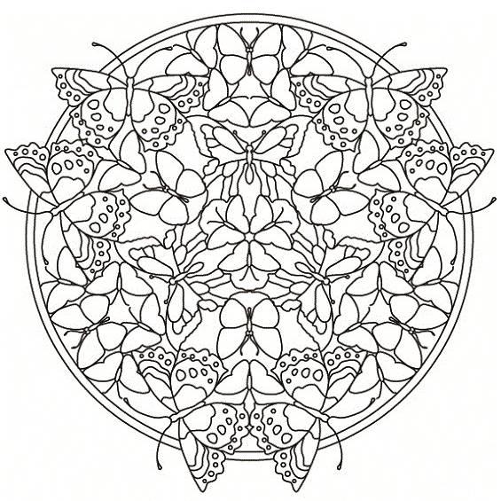 mandala con mariposa para imprimir