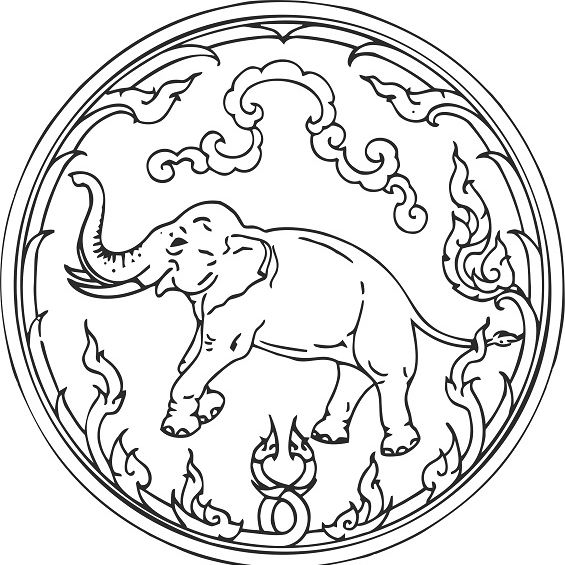 mandala de elefante facil