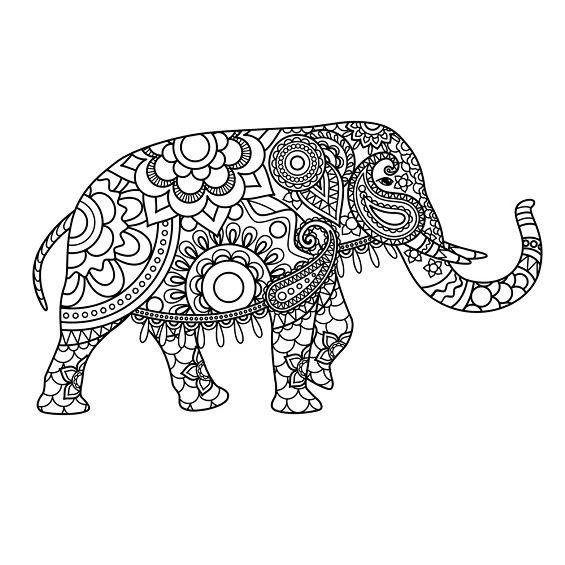 mandala de elefante para imprimir