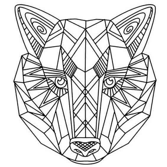 mandala de lobo para imprimir y pintar